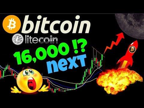🚀BITCOIN to 16,000 NEXT!?🚀BTC LITECOIN price prediction, analysis, news, trading