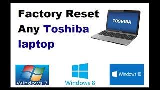 How to Reset Toshiba satellite laptop to Factory Settings - Videourl de