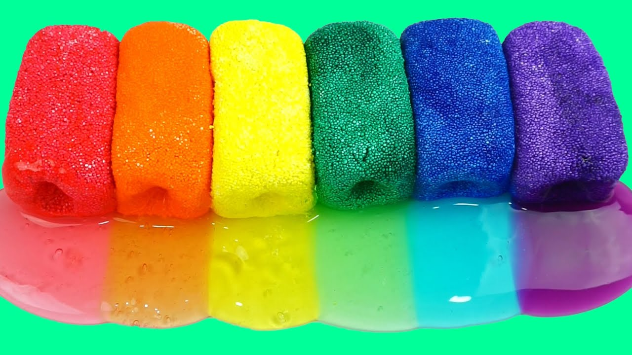 How to make rainbow colors clay slime toy diy foam clay cheese how to make rainbow colors clay slime toy diy foam clay cheese stick youtube ccuart Images