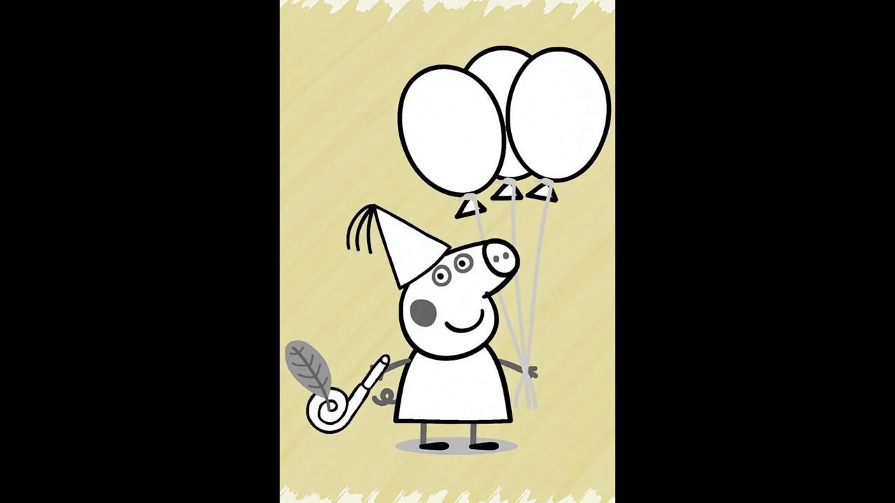 Детская раскраска «Свинка Пеппа» «Peppa Pig» - YouTube