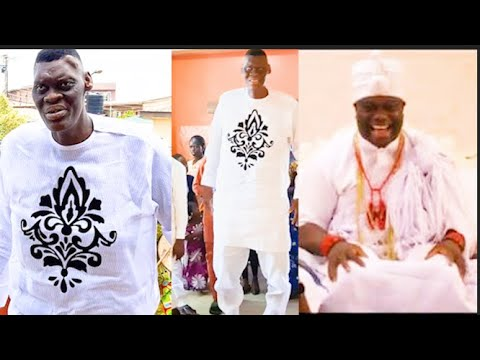 Download See Ooni Of Ife Reaction When  The Tallest Man In Nigeria Storm His palace