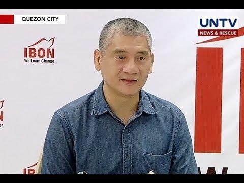 Isang taon ng Duterte administration, binigyan ng gradong 5 ng IBON Foundation