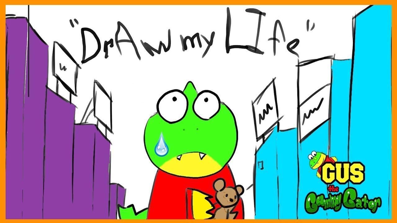 draw my life  gus animated family fun kids pretend