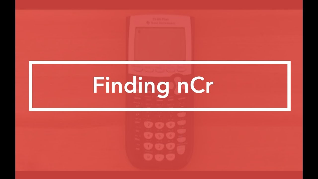 Where to find number of combinations (TI-84 Graphing Calculator)