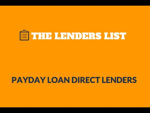 Payday Loan Direct Lenders from The Lenders List - YouTube