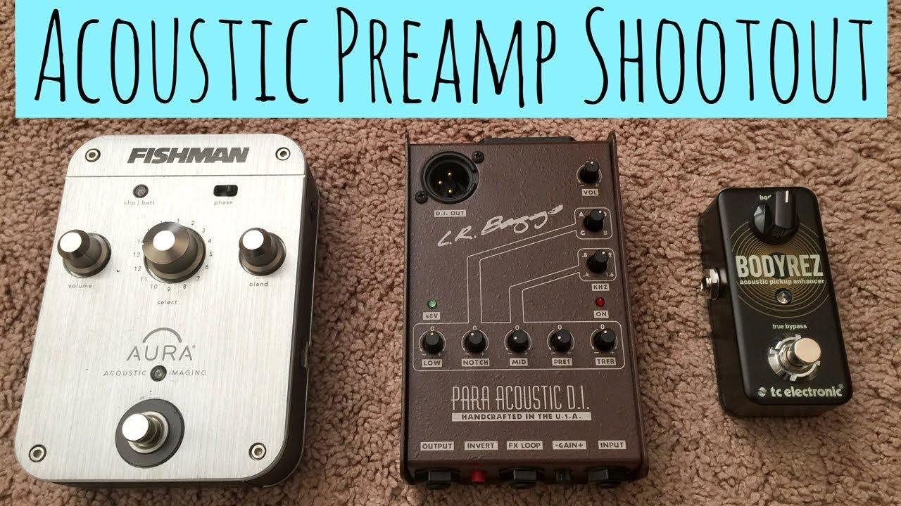 Acoustic Preamp Shootout