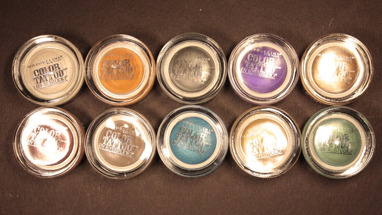 Maybelline 24hr Color Tattoo Eyeshadow Reviewswatches