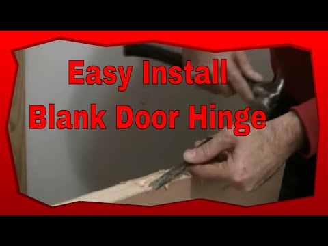 How To Install Hinges On A New Blank Door Installing A