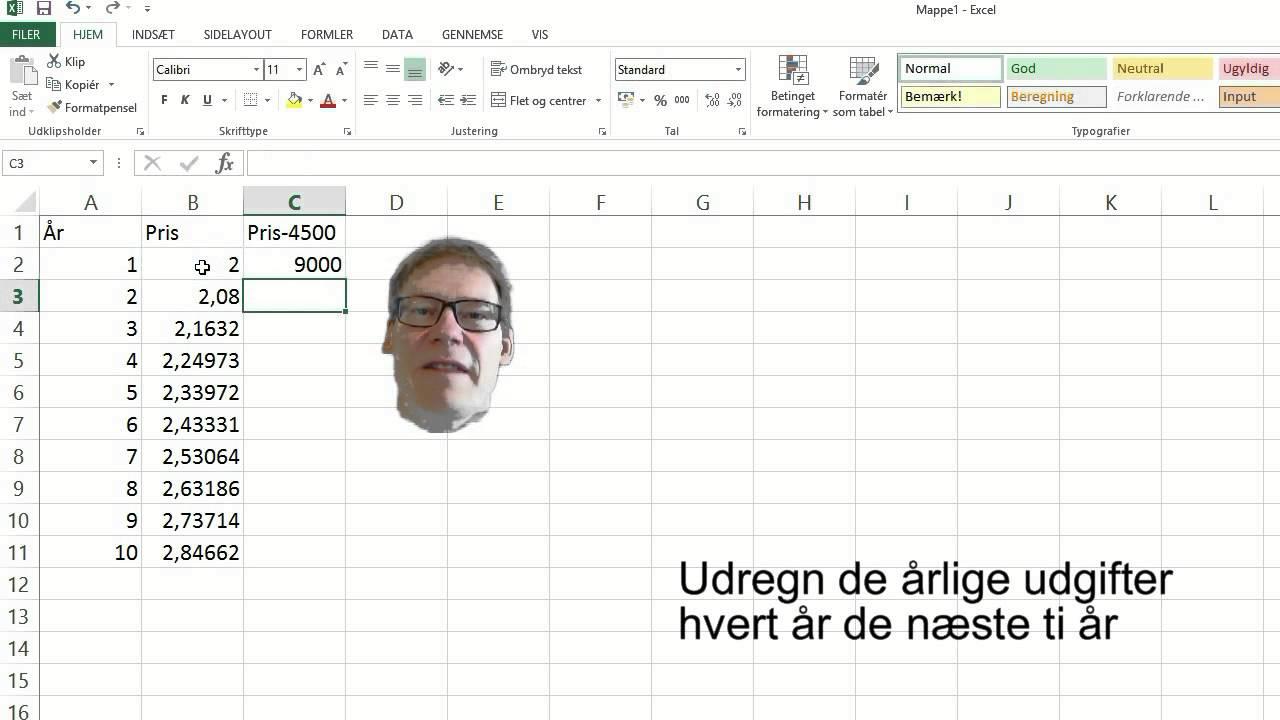 MKS-matematik FS10 2013 2 3 VæKST OG TABELSUMMERING Excel