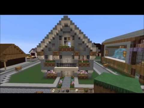 sch nes haus bauen part 1 minecraft youtube. Black Bedroom Furniture Sets. Home Design Ideas