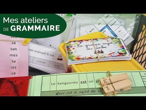 MES ATELIERS DE GRAMMAIRE dans ma CLASSE DE CE1/CE2 [VLOG 33]