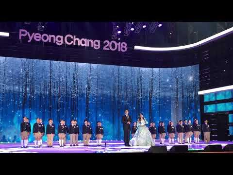 평창의꿈~평창동계올림픽G 100 행사~뮤지컬배우손준호,김소현~강릉프리모어린이합창단