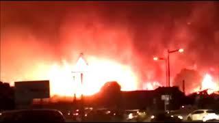 Incendie à Bastia dans le quartier de l'Agliani