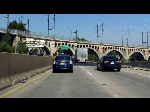 Schuylkill Expressway (Interstate 76 Exits 354 to 331) westbound