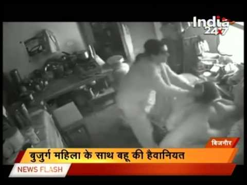 New Delhi : Daughter-in law beats up Mother-in law