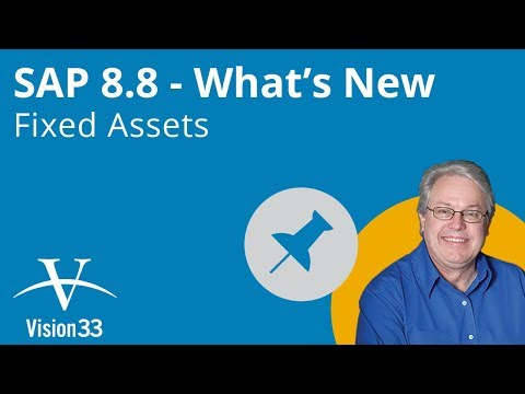 Fixed Assets - Top New Features in SAP Business One 8.8