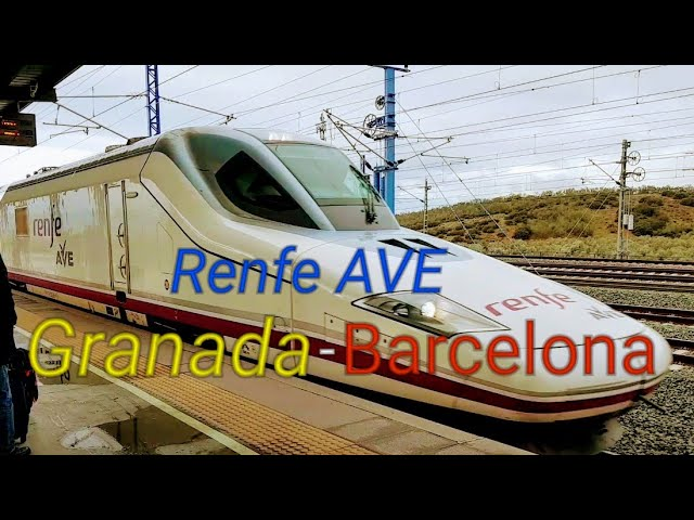 Renfe Ave Granada Barcelona First Class High Speed Train Report Spain Youtube