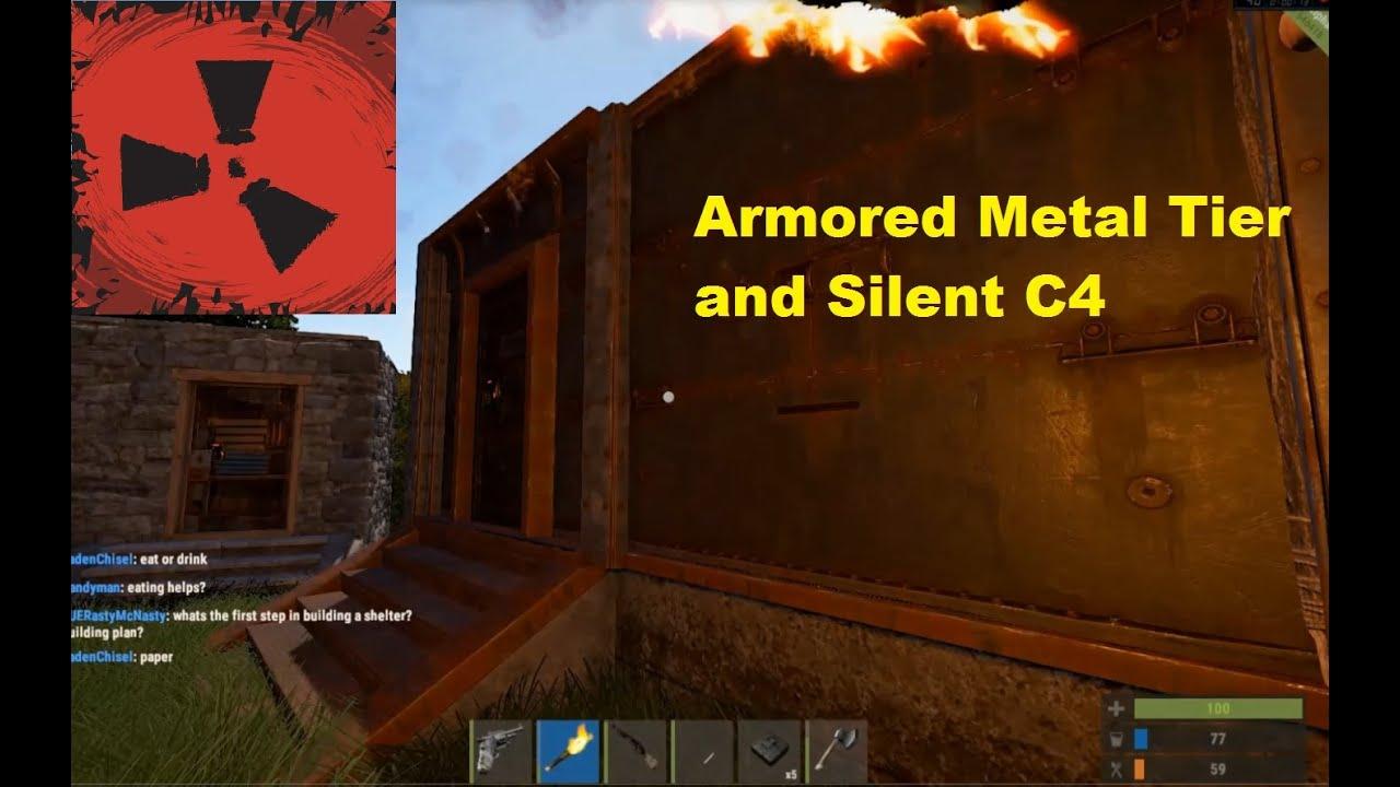 rust how to break a metal door