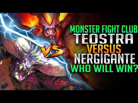 Monster Fight Club - Teostra VS Nergigante Battle - Monster Hunter World PC thumbnail