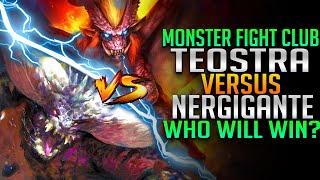 Monster Fight Club - Teostra VS Nergigante Battle - Monster Hunter World PC