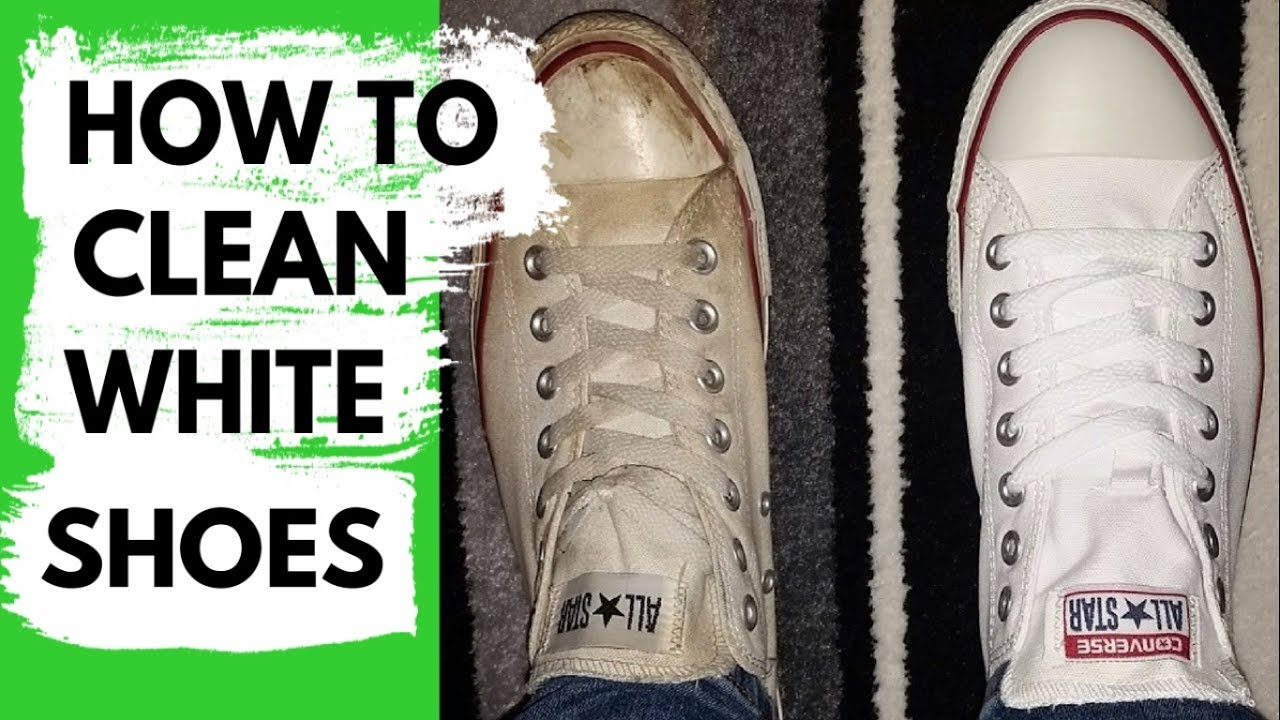 How To Clean White Shoes Method That Works Youtube