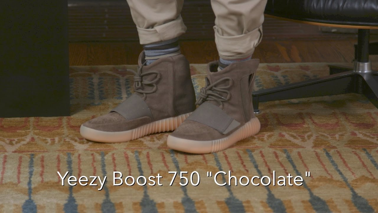 Chocolate Youtube 750 Yeezy Boost ReviewOn Feet Adidas xdeCBor