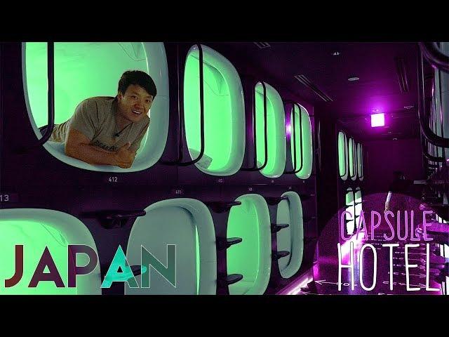 Capsule Hotel & Bento Box on HIGH SPEED Train - Shinkansen From Tokyo to Fukuoka