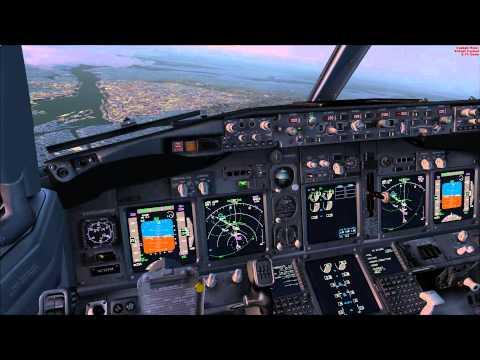 PMDG 737NGX Landing in Novosibirsk(UNNT) VATSIM(HD).wmv