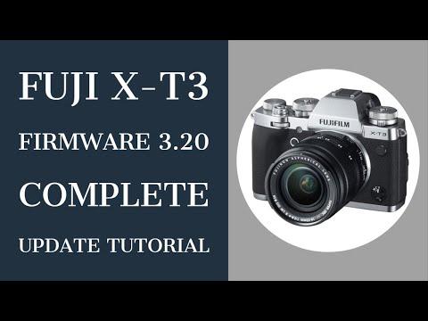 Fuji XT3 Firmware Update Version 3.20 Install Tutorial