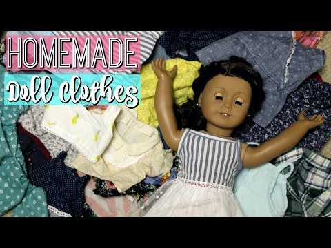 ALL OF MY HOMEMADE AMERICAN GIRL DOLL CLOTHES | Diy American Girl Clothing Collection