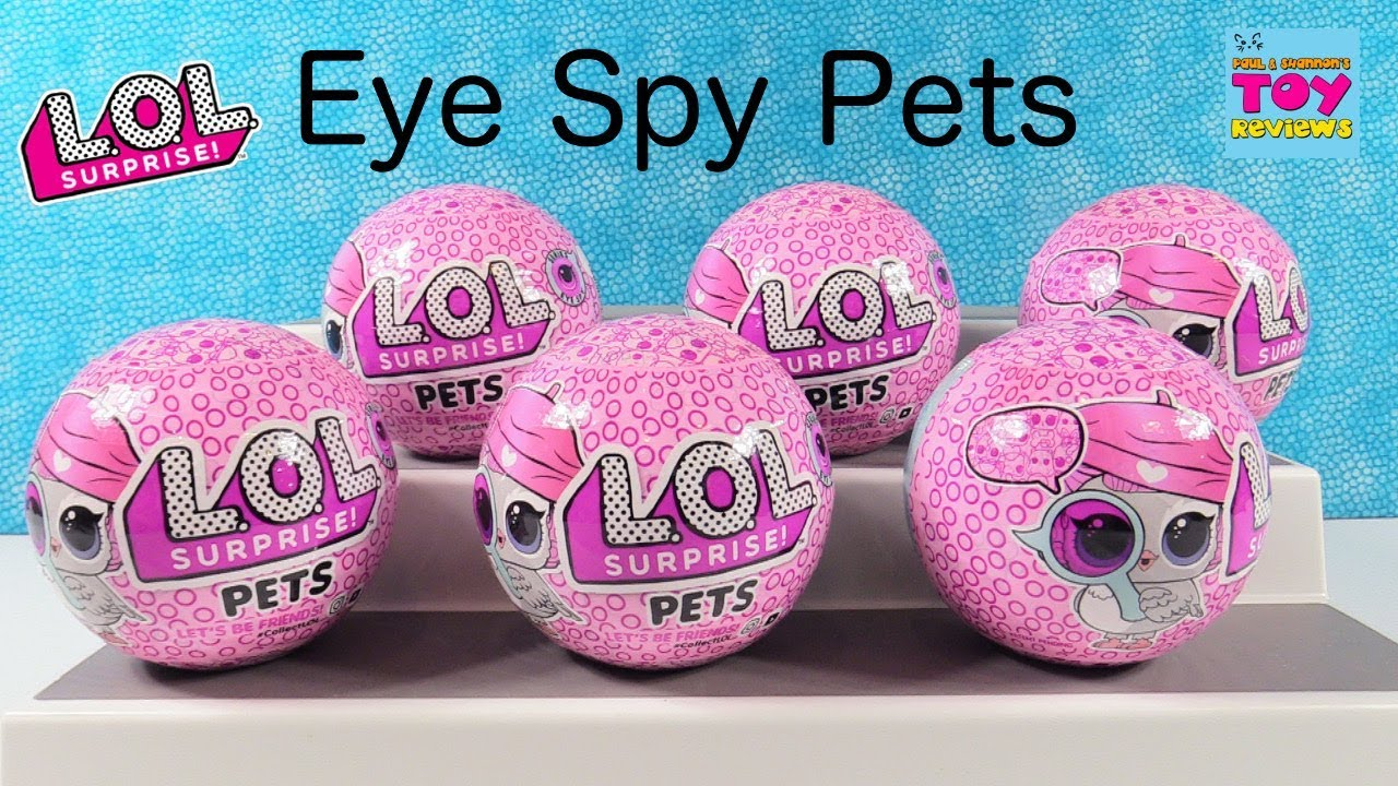 Download LOL Surprise Pets Eye Spy Series 4 Color Change Bubble Pet Unboxing | PSToyReviews