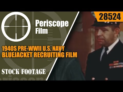 "1940s PRE-WWII U.S. NAVY BLUEJACKET RECRUITING FILM ""THE NAVY RECRUIT"" GREAT LAKES 28524"