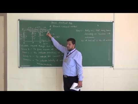 Kirchhoff's laws: Branch Current method: Problem 1 by Prof. Irfan I Mujawar