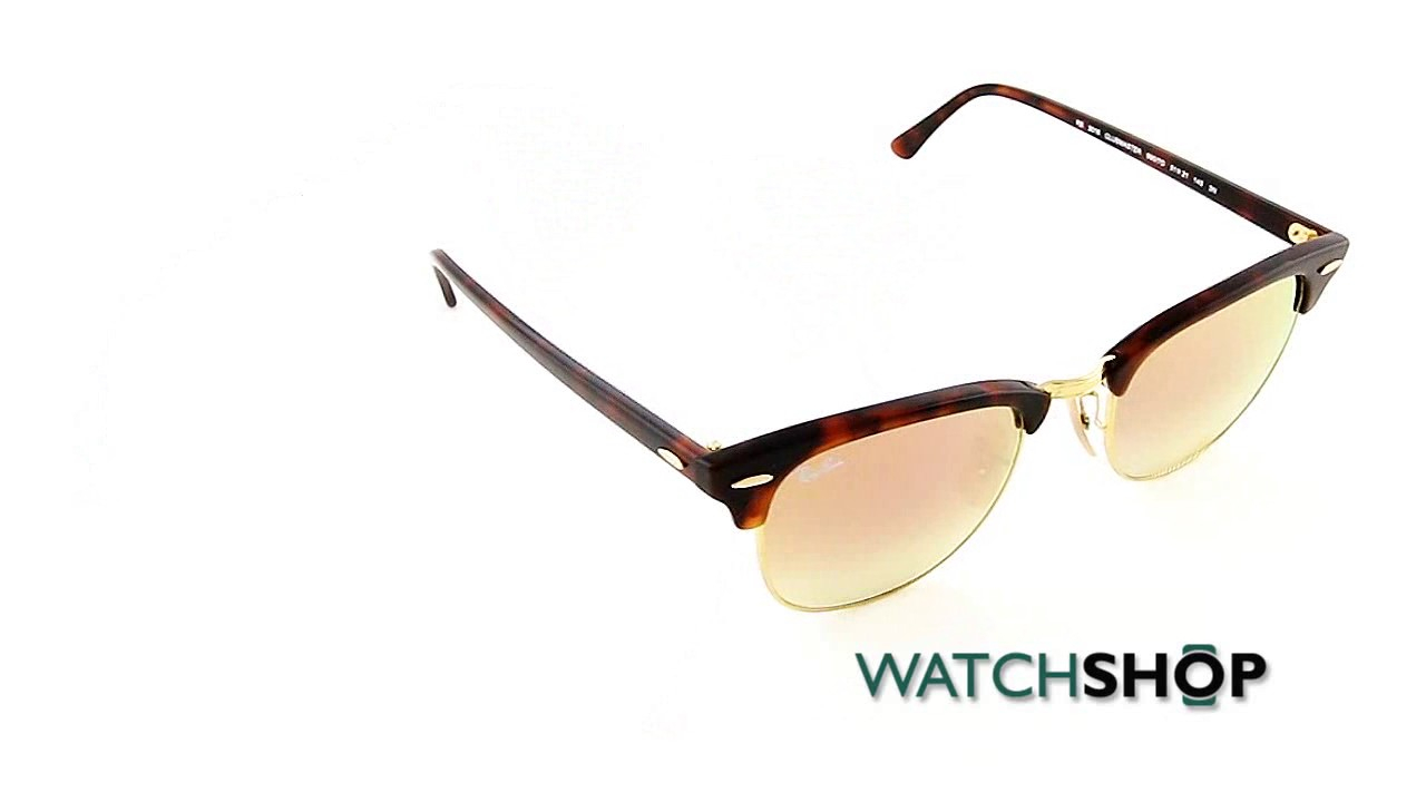 3de4478d96 Ray-Ban Men s Clubmaster Fleck Sunglasses (RB3016-990 7O-51) - YouTube