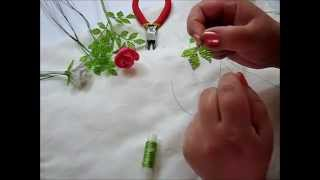 Листики и стебель розы. Часть 3.(Это третья часть мастер класса