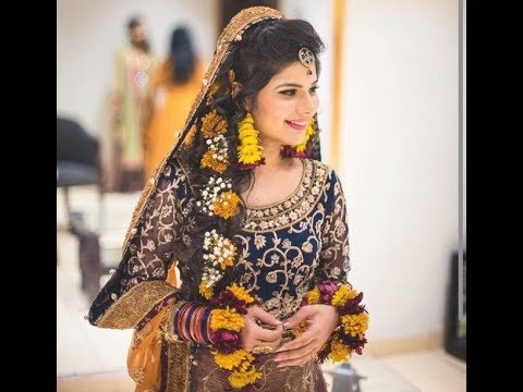 Bridal Hairstyle Pics For Mehndi : Amazing mehndi day hairstyles and jewelry designs 2017 trending