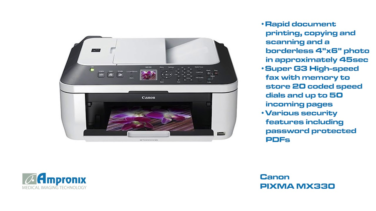 DRIVERS: CANON PIXMA MX330 INKJET ALL-IN-ONE PRINTER