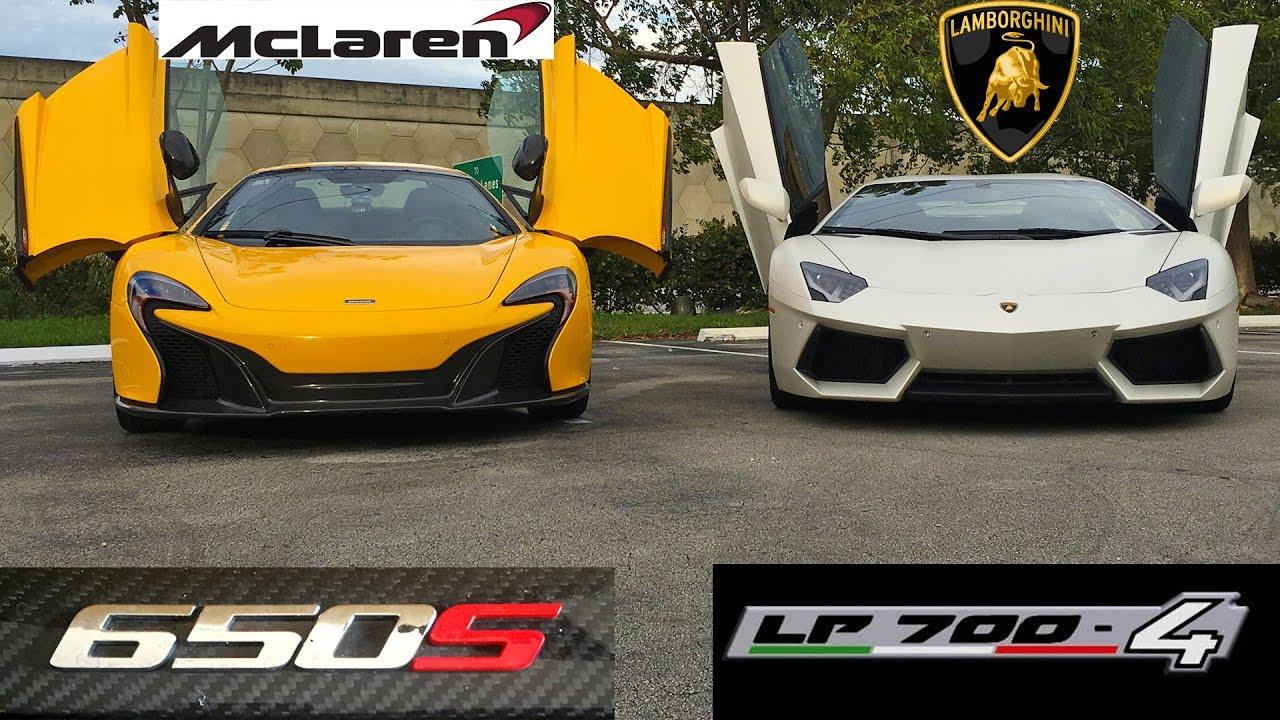 lamborghini huracan vs mclaren 650s mclaren 650s vs lamborghini huracan on the track street. Black Bedroom Furniture Sets. Home Design Ideas