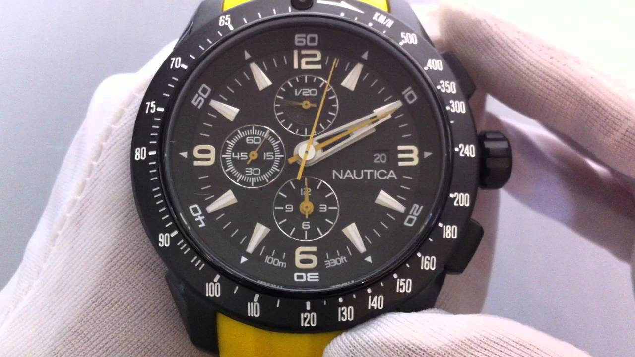 men s nautica nst 101 chronograph watch n18599g