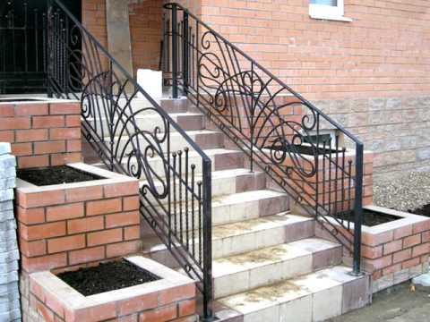 Лестница 167  Входная лестница в дом из бетона дизайн Днепропетровск, Днепр фото