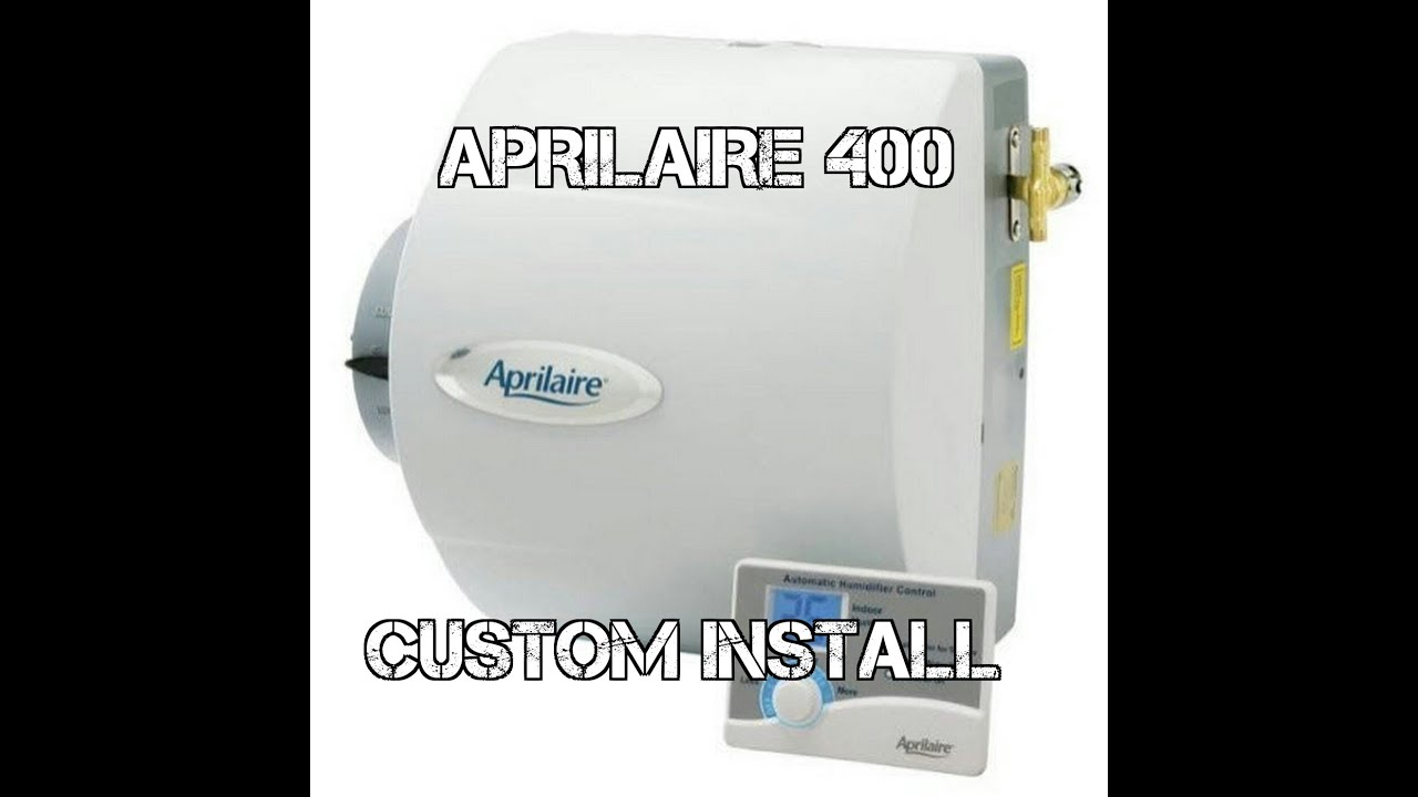 Aprilaire Model 400 Humidifier Installation Hvac Youtube Wiring Diagram