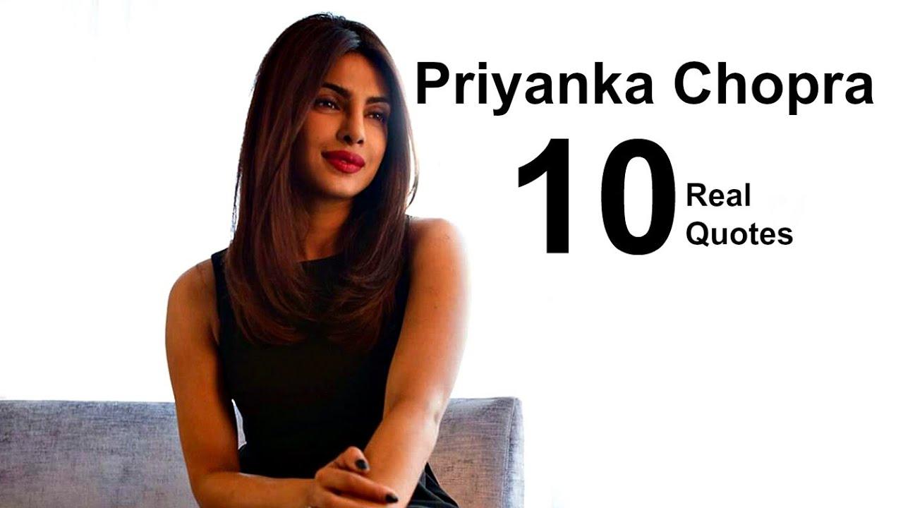 Priyanka Chopra 10 Real Life Quotes on Success | Inspiring ...