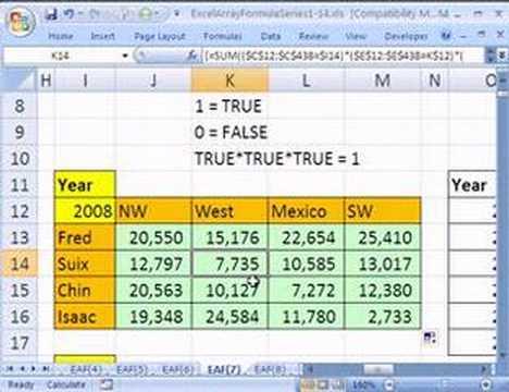 Excel Array Formula Series #7: Boolean Logic & Criteria