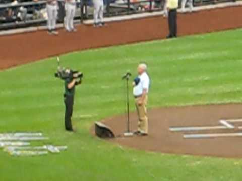 Greg JBara sings National Anthem