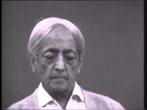 Jiddu Krishnamurti - In total silence the mind comes upon the Eternal