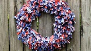 How To Patriotic Rag Wreath - Diy Home Tutorial - Guidecentral