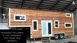 Incredible Tiny Homes: 9' X 30' Gooseneck Tiny House Tour Burwick