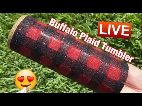 Buffalo Plaid Tumbler Tutorial