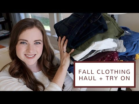 Fall Clothing Haul + Try On | Old Navy and American Eagle