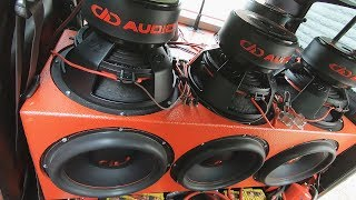 Subwoofer Excursion DD Audio Redline 815d #subwoofer #caraudio #basshead #ddaudio #gopro